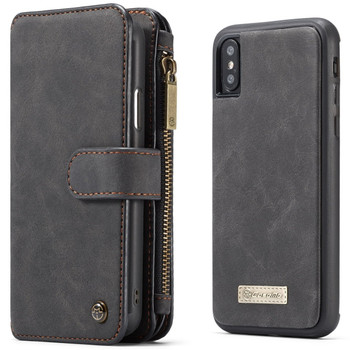 iPhone XS MAX Leather Wallet Case Cover 14 Cards Holder