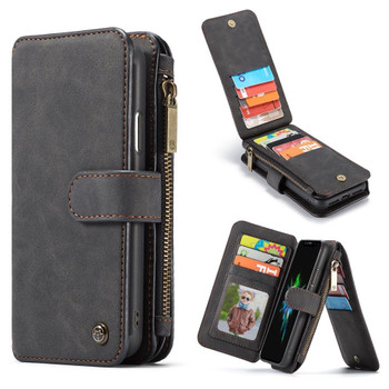 iPhone XR Leather Wallet Case Cover 14 Cards Storage Holder