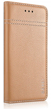 iPhone XS MAX Genuine Leather Case Gold