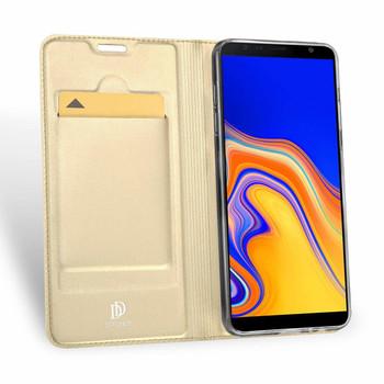 "Samsung Galaxy J4+""Plus"" Flip Case Gold"