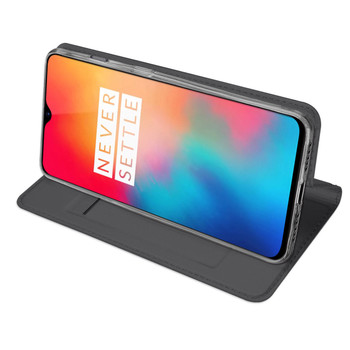 OnePlus 6T Case Premium Pu Leather Cover+Fitted Phone Holder