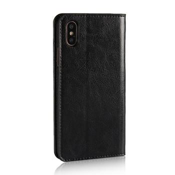 iPhone XR Genuine Leather Case Wallet Card Holder Black