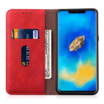 Huawei Mate 20 PRO Phone Leather Magnetic Case Cover Red