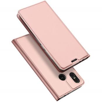 Motorola One Leather Case Pink
