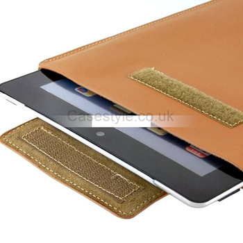 "iPad 9.7"" Inch Genuine Leather Sleeve Pouch Case Beige"