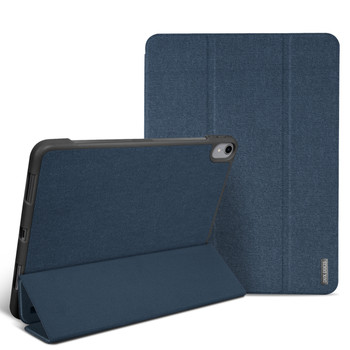 iPad Pro 12.9 Inch 3rd Gen Smart Case Cover Blue with Pencil Holder