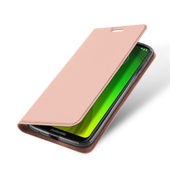 Moto G7 Power Case Protective Flip Cover Soft Pink