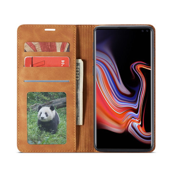 Samsung Galaxy S10 Case Cover Card Holder Brown