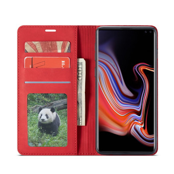"Samsung Galaxy S10+""Plus"" Case with 3 Card Holder Red"