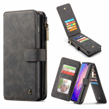 Samsung S10 Plus Leather Wallet Case