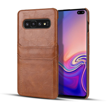 Samsung Galaxy S10 Card Holder Snap-On Slim Lite Case Tan