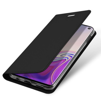 Samsung Galaxy S10E Phone Flip Case Slim Cover Holder Black