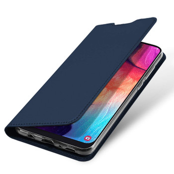 Samsung Galaxy A50 Case Full 360 Flip Cover Blue