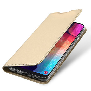 Samsung Galaxy A50 Case Full 360 Flip Cover Gold
