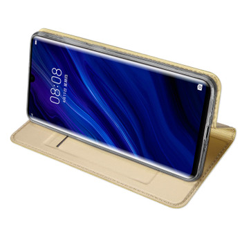 Huawei P30 PRO Case Shockproof Magnetic Flip Cover Gold