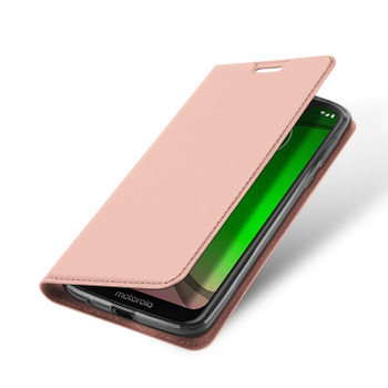 Moto G7 Play Phone Flip Cover Slim Case Pink Rose Gold