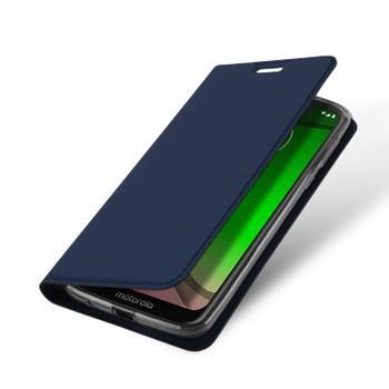 Moto G7 Play Phone Flip Cover Slim Case Blue