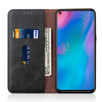 Huawei P30 Leather Magnetic Flip Card Holder Case Cover