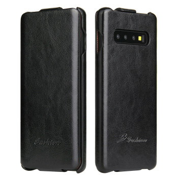 Samsung Galaxy S10 Vertical Flip Case Black