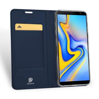 "Samsung Galaxy J6+""Plus"" Case Flip Cover Blue"