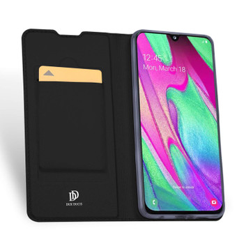 Samsung Galaxy A40 Case Shockproof 360 Flip Cover Black