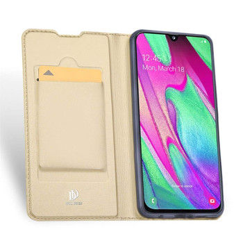 Samsung Galaxy A40 Case Shockproof Flip Cover Soft Gold