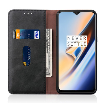 OnePlus 7 Leather Case Cover Black