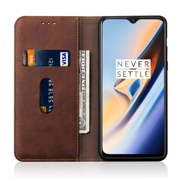 OnePlus 7 Leather Case Cover Russet Brown