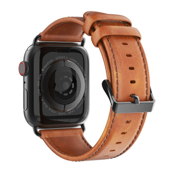 Apple Watch Series 4 Genuine Leather Strap Band Brown 44mm