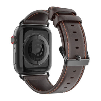 Apple Watch Series 4 Genuine Leather Strap Band Coffee 44mm