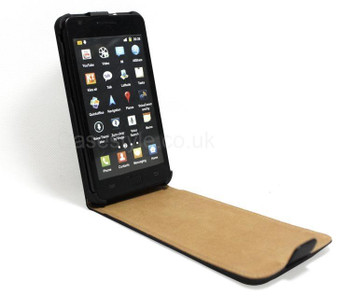 Samsung Galaxy S2 Leather Flip Case Black