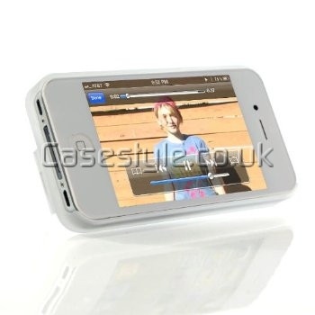iPhone 4S 4 Dual Kickstand Case White