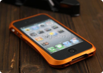 Deff Cleave iPhone 4S 4 Metal Bumper Case Orange
