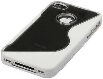 iPhone 4S 4 Side Grip Hard Case White