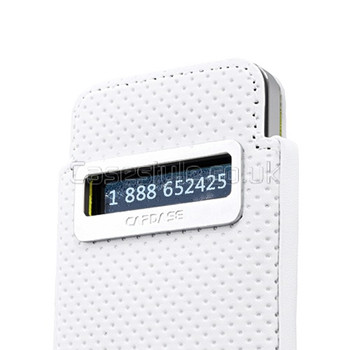 Capdase iPhone 4S 4 Smart Pocket Callid Dot Pouch White