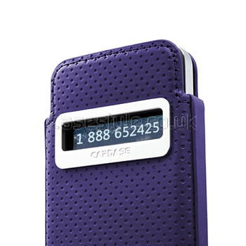 Capdase iPhone 4S 4 Smart Pocket Callid Dot Pouch Purple