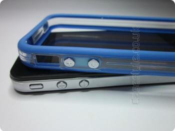 iPhone 4S 4 Bumper Blue Clear