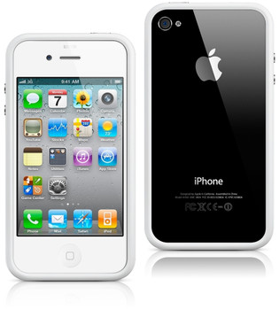 iPhone 4s case bumper white
