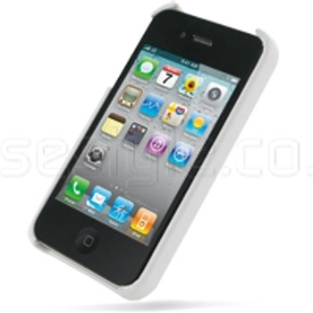 iPhone 4S 4 Genuine Leather Back Case White