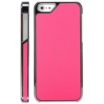 iPhone 5S Pink Leather Case