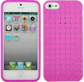 iPhone 5 Woven Skin Pink