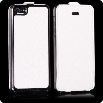 iPhone 5 White Leather Luxury Case