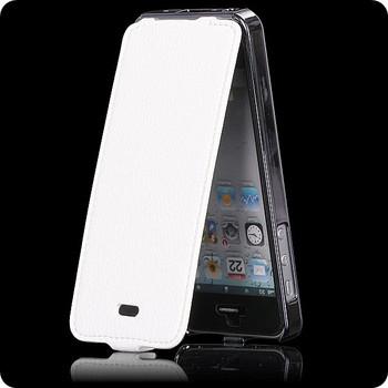 iPhone 5 5S Luxury Looks Leather Flip Case White