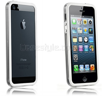 iPhone 5 Bumper White with Metal Buttons