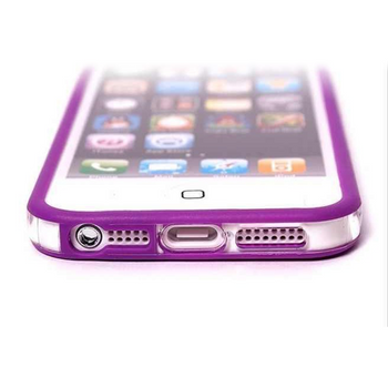 iPhone 5 5S Bumper Purple with Metal Buttons