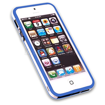 iPhone 5 Blue Bumper Frame
