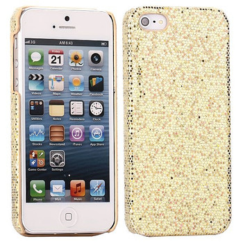iPhone 5 Glitter Bling Gold Back