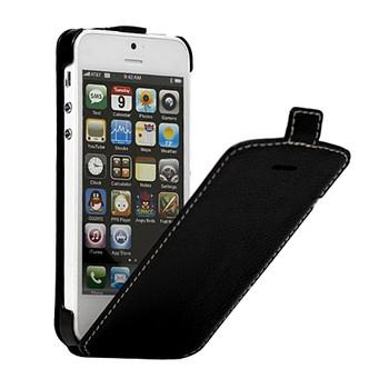 Kingpad iPhone 5 5S Leather Flip Thin Case Black