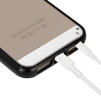 iPhone 5 5S Bumper Clear Back Case Black