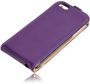 iiPhone 5s Leather Case Purple